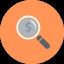 magnifier-dollar-coin-128