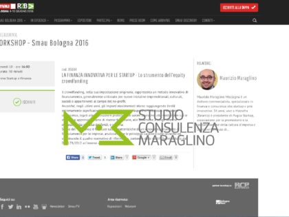 WORKSHOP – Smau Bologna 2016 sull'equity crowdfunding