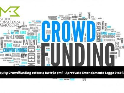 Equity Crowdfunding esteso a tutte le pmi – Approvato Emendamento Legge Stabilità