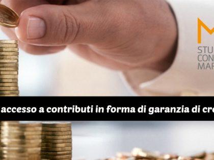 Bando per accesso a contributi in forma di garanzia di credito 2017