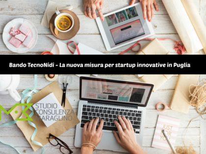 Bando TecnoNidi – La nuova misura per startup innovative in Puglia