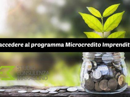 Come accedere al programma Microcredito Imprenditoriale