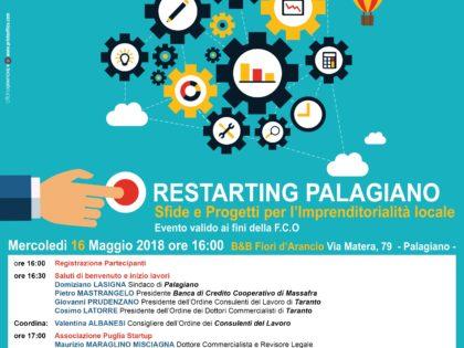 Palagiano ospita un convegno per discutere di sfide e progetti per l'imprenditorialità locale