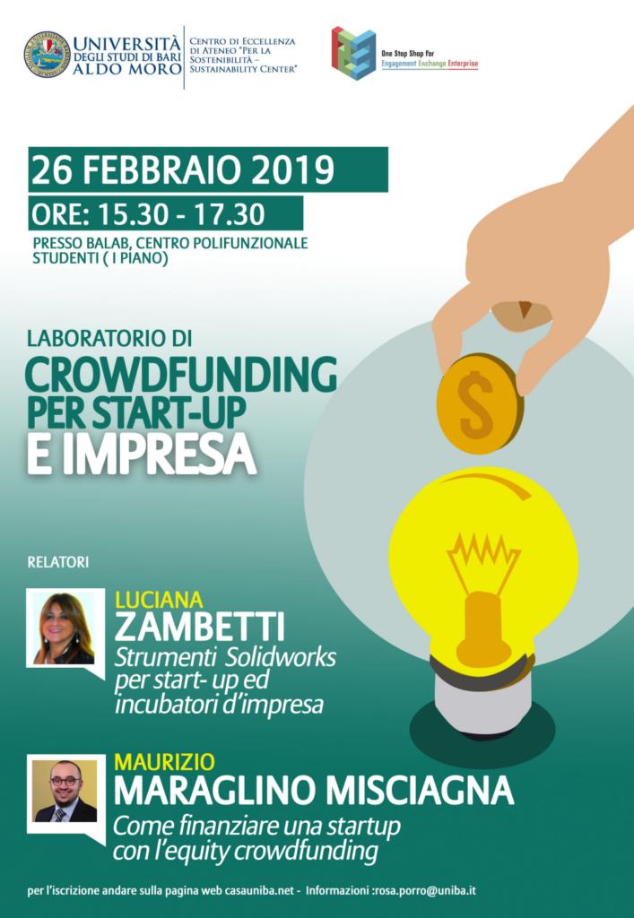 Laboratorio di crowdfunding per startup e impresa