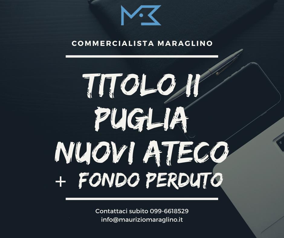Finanziamenti Puglia: Il Titolo II apre a Farmacie e aumenta il fondo perduto